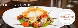 Local Restaurant Week Oct. 2018