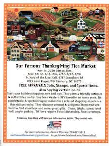 Our Famous Flea Market, Our Famous Thanksgiving Flea Market, Hamburg, NY, Welcome 716