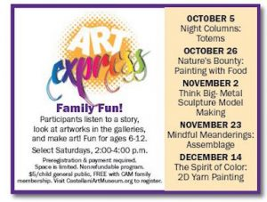 Art Express Family Workshop at the CAM, Castellani Art Museum