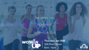Woman UP Conference 2020, The Brain & Movement, Welcome 716, 500 Pearl