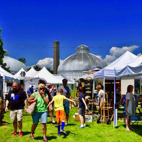 Buffalo-style Garden Art Sale, Buffalo & Erie County Botanical Gardens, Welcome 716
