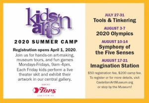Kids 'n Arts Camp, Castellani Art Museum, Welcome 716