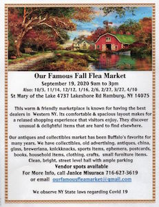 Famous Fall Flea Market, Hamburg, NY, Welcome 716