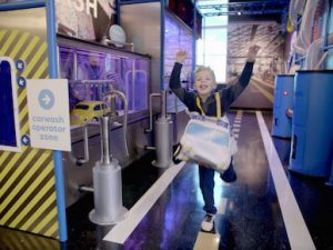 The Car Wash Exhibit, Explore & More Children's Museum, Welcome 716, Buffalo, NY